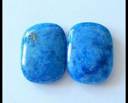 36.5Cts Natural Lapis Lazuli Cabochon Pair(C0005)
