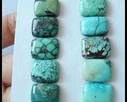 Parcel 10 PCS Turquoise Gemstone Cabochon,47ct