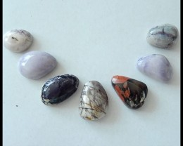 7PCS Natural Tiffany Stone Cabochons Parcel,63.5ct