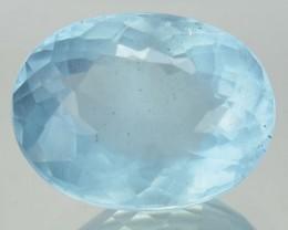 4.48 Cts Natural Santa maria Blue Aquamarine Oval Cut Brazil Gem NR