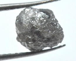 2.77ct 8.3mm Conflict free Natural Champagne and grey rough diamond