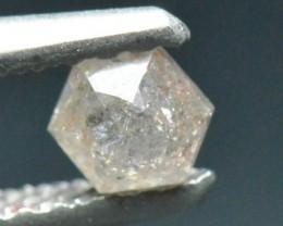 0.26ct 4mm orange pinkish Hexagon Rose cut diamond