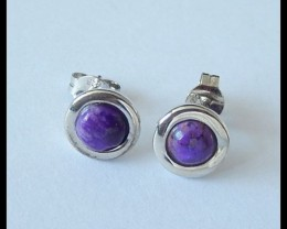 Sugilite Stud Earring 925 Silver Earring Jewelry,6cts