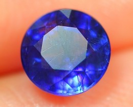 1.36Ct Natural Madagascar Round Faceted Royal Blue Sapphire