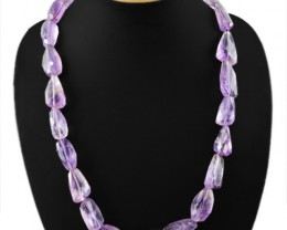 540.00 CTS NATURAL  AMETHYST FACETED BEADS NECKLACE