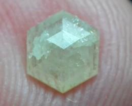 0.40ct 5.3mm Ivory white Hexagon cut rose cut diamond conflict free