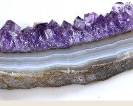 AMETHYST STLACTITE   62 CTS  SG-1317