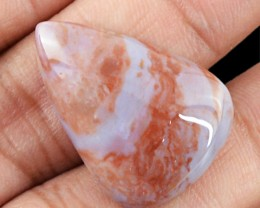 Genuine 24.15 Cts Pear Shaped Agate Cab
