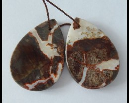 42.5ct Natural Mushroom Jasper Earring Beads