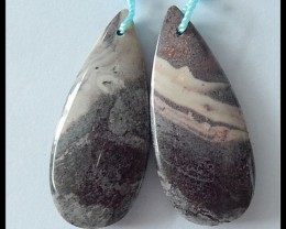 41CT Natural Jasper Earring Beads