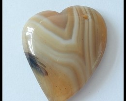 Heart Gemstone Natural Agate Pendant Bead,115cts