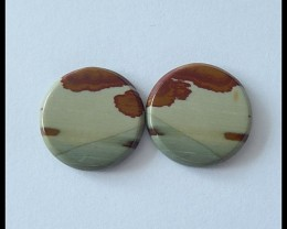 15.7cts Natural Owyhee Jasper Cabochons Pair