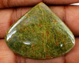 Genuine 35.35 Cts Blood Green Unakite Untreated Cab