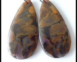 74cts Natural Dendritic Agate Earring Beads