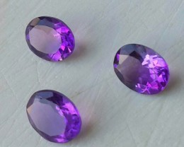 4.85 cts natural Purple Amethyst Exquisite Glister Dazzling NR!