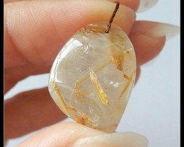 19.5ct Natural Gold Rultilated Pendant Bead