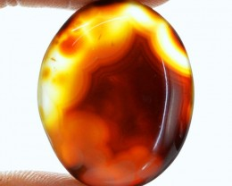 Genuine 55.95 Cts Brown Onyx Oval Shaped Cab