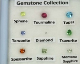 MIX GEM STONES DISPLAY BOX 2 CTS RNG-284