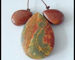78.5cts Natural Multi Color Picasso Jasper Pendant Beads Cluster