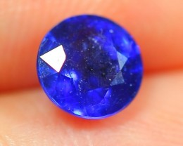 1.23Ct Natural Madagascar Round Faceted Royal Blue Sapphire