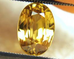 5.55 Carat Golden Yellow VVS Zircon - Gorgeous