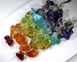 MIXED GEMSTONE EARRINGS  49.40 CTS SG-1329