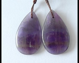 16.5Cts Natural Amethyst Beads Pairs