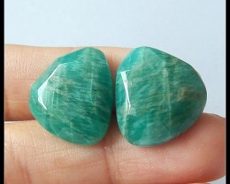 Women Earrings Jewelry From Shantoustone,28cts Faceted Amazonite Cabochon P