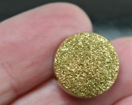 15mm gold round druzy cabochon AAA quality 15mm by 4mm