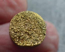 13mm gold round druzy cabochon AAA quality 13mm by 4mm 6.75ct