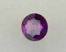 2.04 Violet Sapphire Round Cut