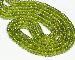 VESUVIANITE green faceted beads 7.5 inch line IDCR001