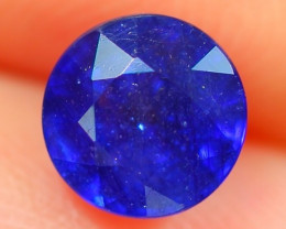 1.27Ct Natural Madagascar Round Faceted Royal Blue Sapphire