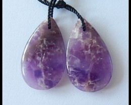 19cts Natural Amethyst Earring Beads
