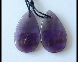 17Cts Natural Amethyst Earring Beads