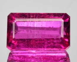 1.67 Cts Natural Raspberry Pink Rubelite Tourmaline Octagon Cut Mozambique