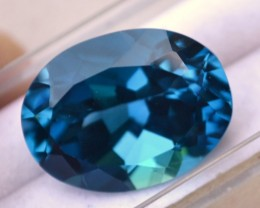 22.30 Carat Oval Cut Fine London Blue Topaz