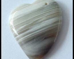 107Cts Natural Agate Heart Shaped Gemstone Pendant Beads