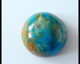 35Cts Natural Peruvian Blue Opal Gemstone Cabochon