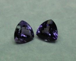 AMETHYST GEMSTONE TRILLION PAIR