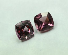 RHODOLITE GARNET PAIR, PURPLE ROSE