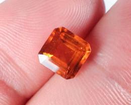 1.82 Carat Square Octagon Cut Hessonite Garnet