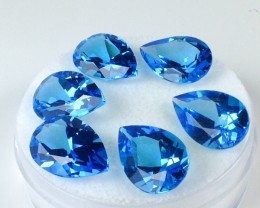 37.76 Carat Parcel of Matched Pear Cut Electric Blue Topaz - Price Drop!!!