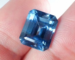 8.85 Carat Octagon Step Cut Blue Topaz