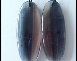 110.5Cts Natural Rainbow Fluorite Gemstone Earring Beads