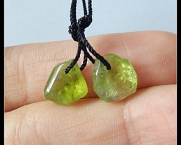 6.5Cts Natural Peridot Earring Beads