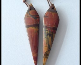24.35Cts Natural Multi Color Picasso Jasper Earring Beads(B180407)