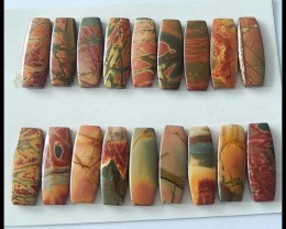 18PCS Natural Multi Color Picasso Jasper Cabochons