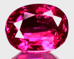 0.64 Cts NATURAL REDDISH PINK RUBY MOZAMBIQUE OVAL