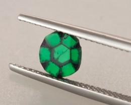 0.59ct Trapiche Emerald Flat Cabochon